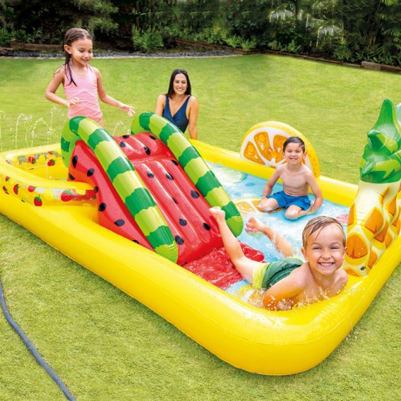 Centro de juegos hinchable Intex Fun 'N Fruity con tobogán 57158NP