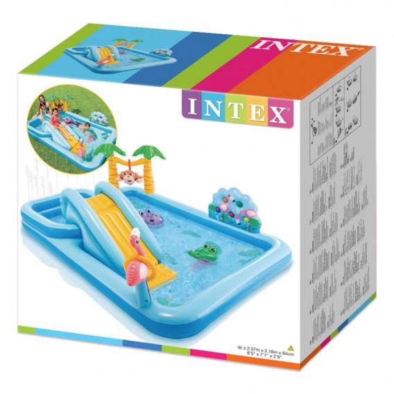 Centro de juegos hinchable Intex Jungle Adventure con tobogán 57161NP