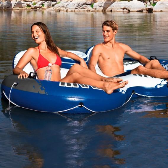 Flotador hinchable doble Intex River Run 2 con nevera 58837EU