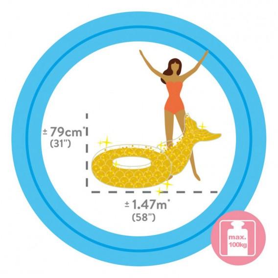 Flotador sirena con purpurina Intex 56258EU