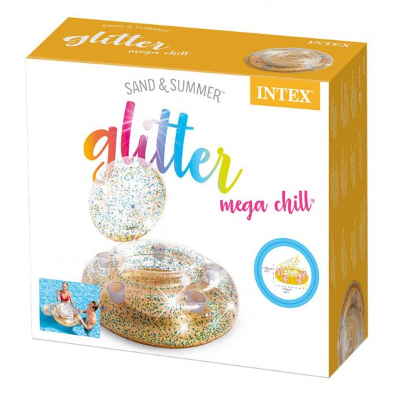 Nevera flotante Intex Glitter Mega Chill 56810NP