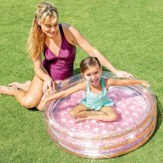 Mini piscina infantil purpurina Intex 57103NP