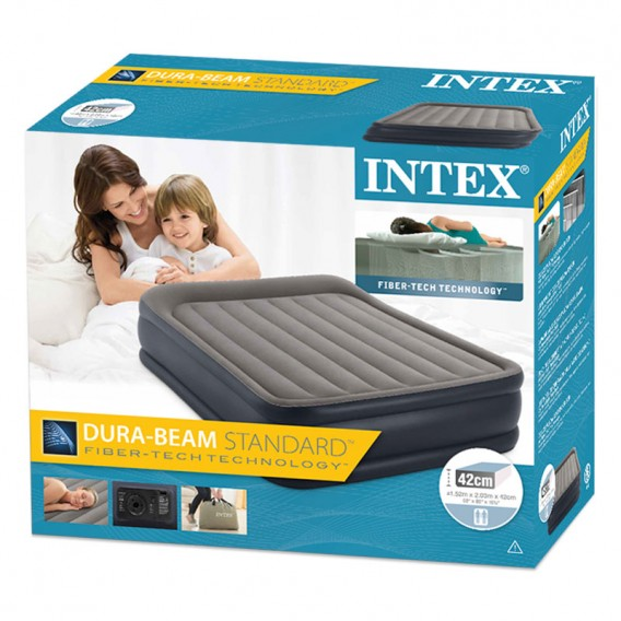 Cama hinchable doble Intex Deluxe Pillow Rest Raised 64136NP