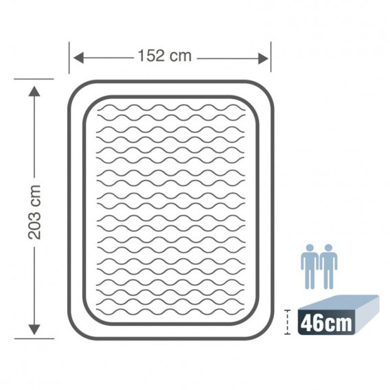 Cama hinchable Intex Ultra Plush doble 64428NP