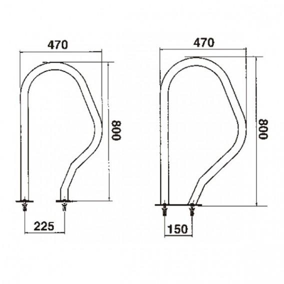 Dimensiones salida piscina 470 x 800 mm AstralPool