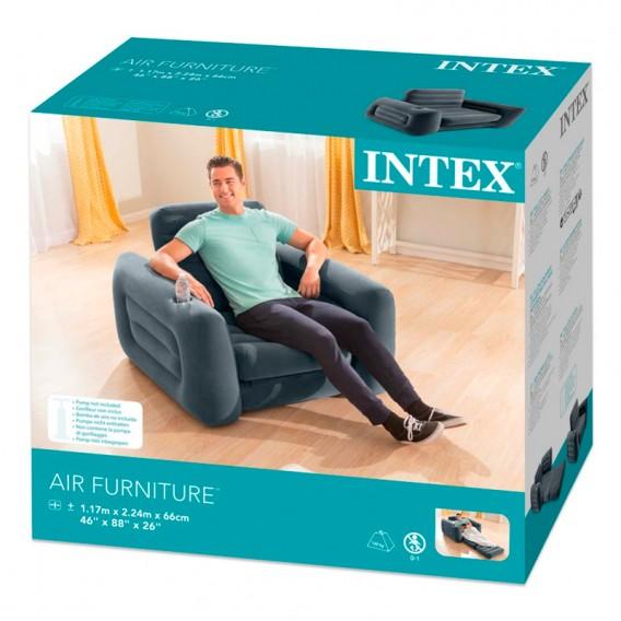 Sillón cama hinchable Intex individual 66551NP