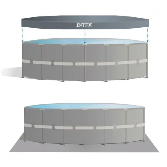 Cobertor y tapiz piscina Intex Ultra XTR Frame 26326NP