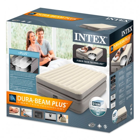 Cama hinchable Intex Prime Comfort Elevated doble 64164NP