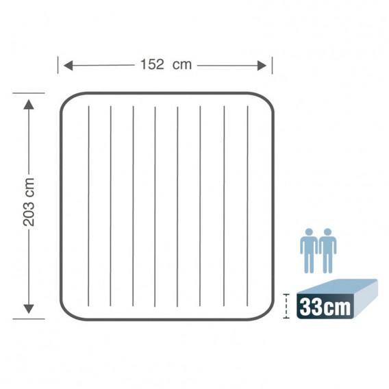 Cama hinchable Intex Comfort-Plush Dura Beam doble 67770NP