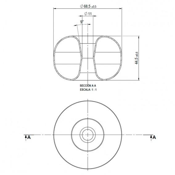 Dimensiones flotador Roma AstralPool