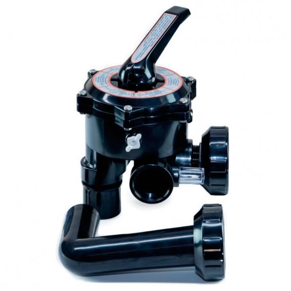 """Válvula selectora 1½"""" lateral QP con enlaces a filtro"""