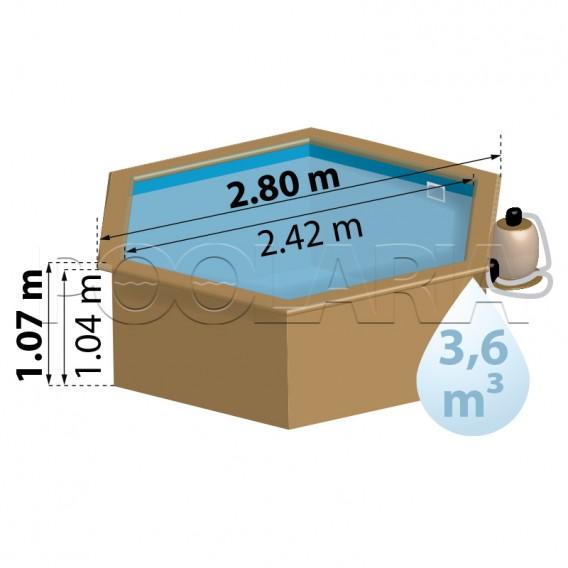 Dimensiones piscina Gre Sunbay Lili 2 800008