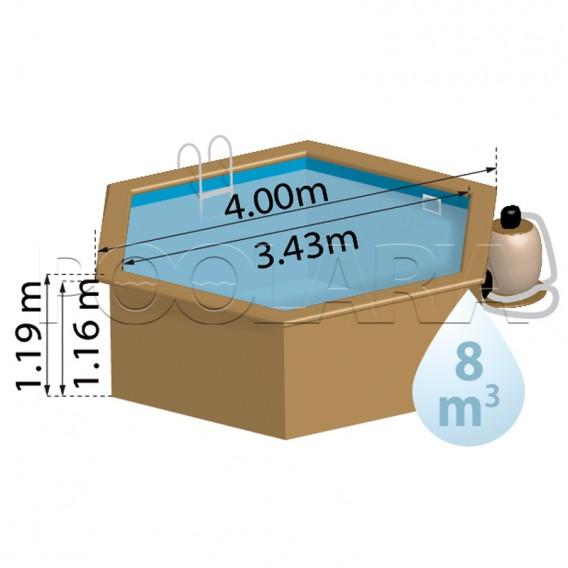 Dimensiones piscina Gre Sunbay Vanille 2 800002