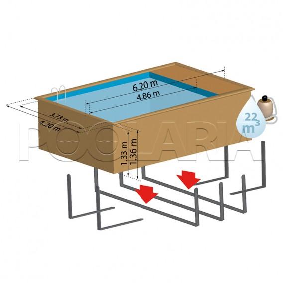 Dimensiones piscina Gre Sunbay Evora Plus 800009