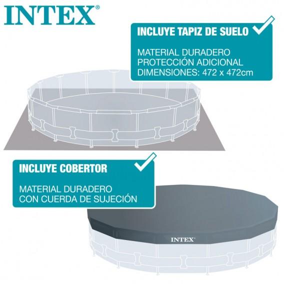 Cobertor y tapiz piscina Intex Greywood Prism Frame 26742NP