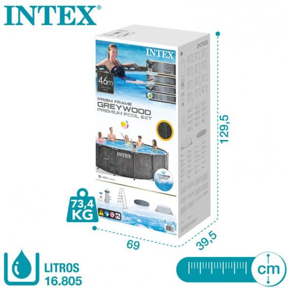 Embalaje piscina Intex Greywood Prism Frame 26742NP