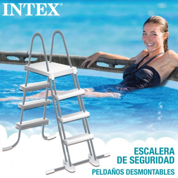 Escalera piscina Intex Greywood Prism Frame 26744NP