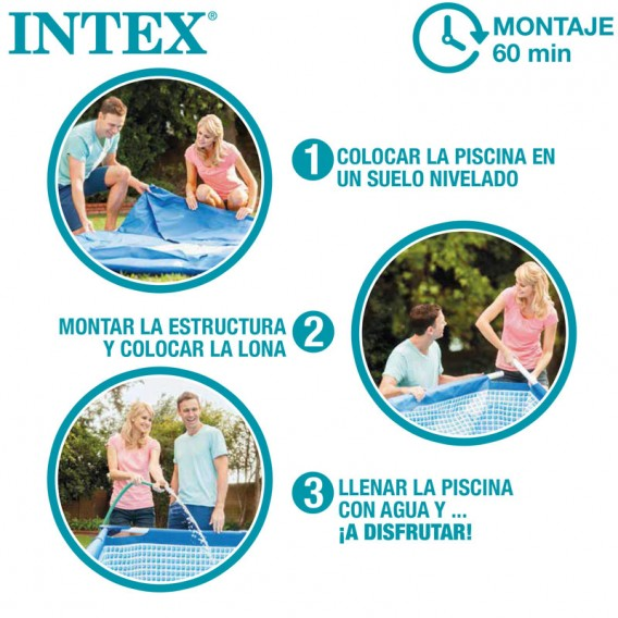 Montaje piscina Intex Greywood Prism Frame 26744NP