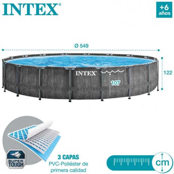 Dimensiones piscina Intex Greywood Prism Frame 26744NP