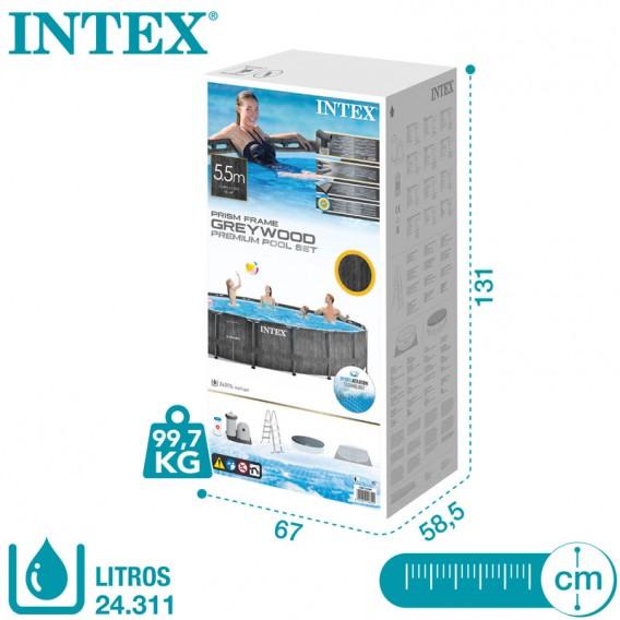 Embalaje piscina Intex Greywood Prism Frame 26744NP