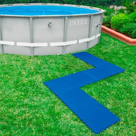 Protector suelo Intex para piscinas 50x50x1 cm 8 piezas