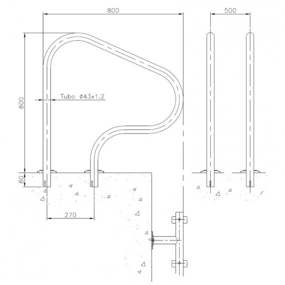 Dimensiones salida piscina para empotrar 05540