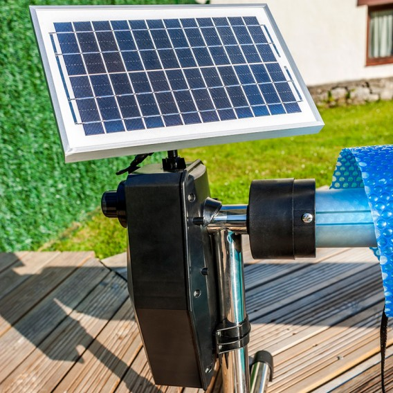 Enrollador automático solar manta piscina enterrada Gre SCR55