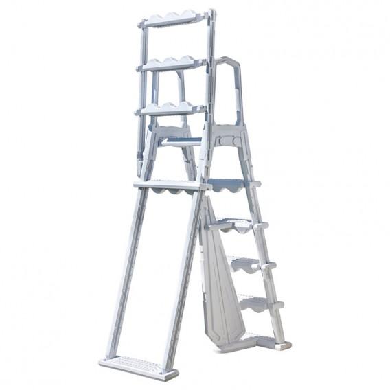 Escalera de seguridad Premium 2x4 peldaños Gre L4PL