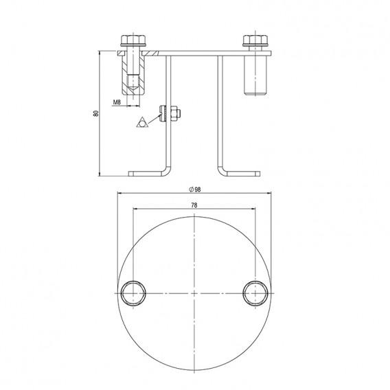 Dimensiones fijación equipotencial AstralPool 73318