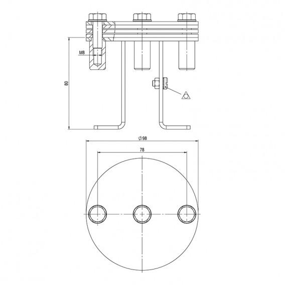 Dimensiones fijación equipotencial AstralPool 73319