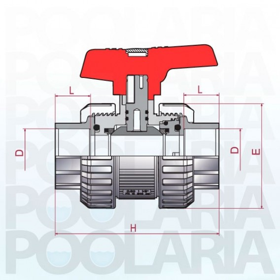 Válvula de bola Cepex [STD] PVC-U PE-EPDM encolar