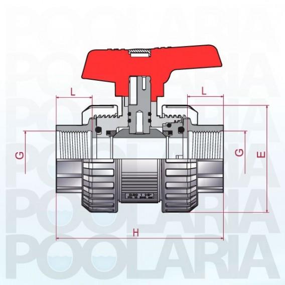 Válvula de bola Cepex [STD] PVC-U PE-EPDM roscar