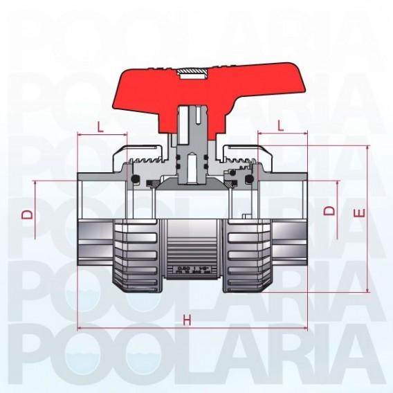 Válvula de bola Cepex [STD] PVC-U Teflón®-EPDM encolar