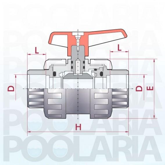 Válvula de bola Cepex Standard PVC Teflón®-FPM encolar