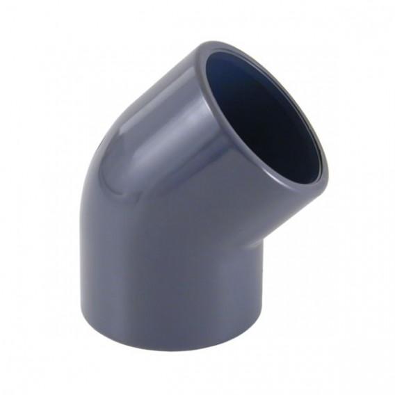Codo 45° PVC encolar
