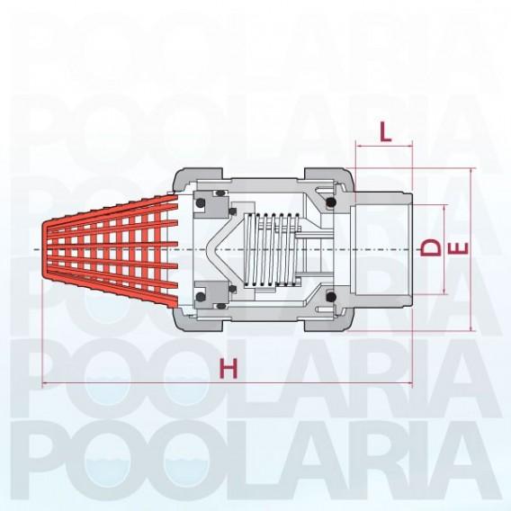 Válvula de pie PVC Cepex FPM encolar