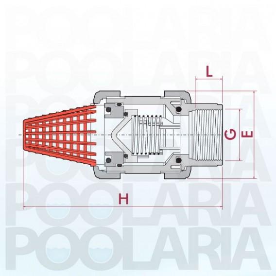 Válvula de pie PVC Cepex FPM roscar