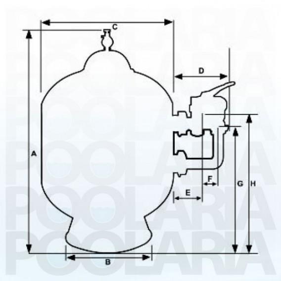 Filtro de arena Pentair Triton I salida lateral - Depuradora piscina
