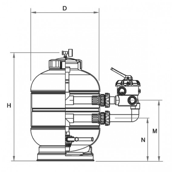 Dimensiones filtro Millennium Lateral AstralPool