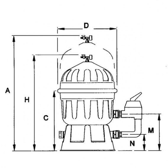 Filtro Clarity de diatomeas AstralPool dimensiones