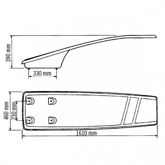 Trampolín piscina flexible Dynamic dimensiones