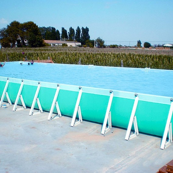 Piscina plus desmontable rectangular iaso poolaria for Piscines demontables