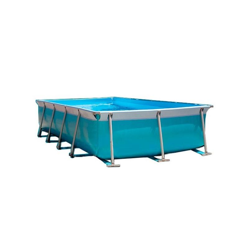 Piscina max desmontable rectangular iaso poolaria for Piscina hinchable rectangular