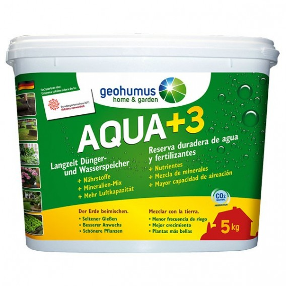 Geohumus AQUA +3 Home & Garden complemento sustrato ecológico