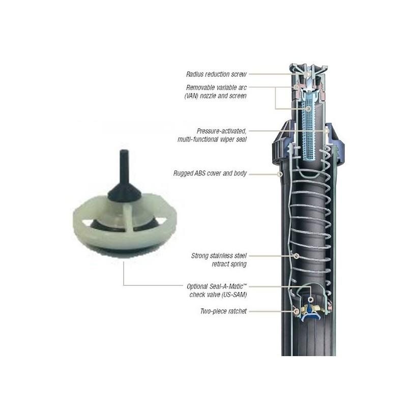 V lvula anti drenaje para difusor uni spray us sam kit for Aspersores para riego de jardin