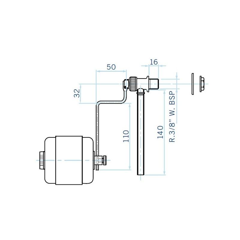 V lvula reguladora de nivel skimmer inox astralpool poolaria for Regulador de nivel piscina
