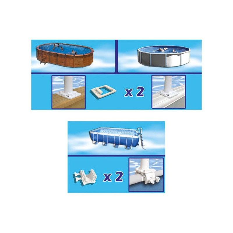 Enrollador de manta piscina desmontable gre 40135 poolaria for Accesorios piscinas desmontables