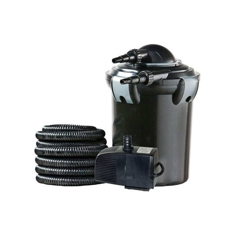 Filtro a presi n con bomba y uv 4000 litros heissner for Estanque de agua 4000 litros