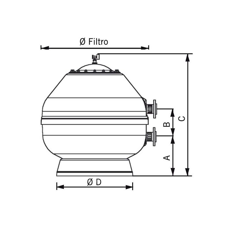 Filtro vesubio lateral astralpool depuradora piscina - Filtro de arena para piscina ...