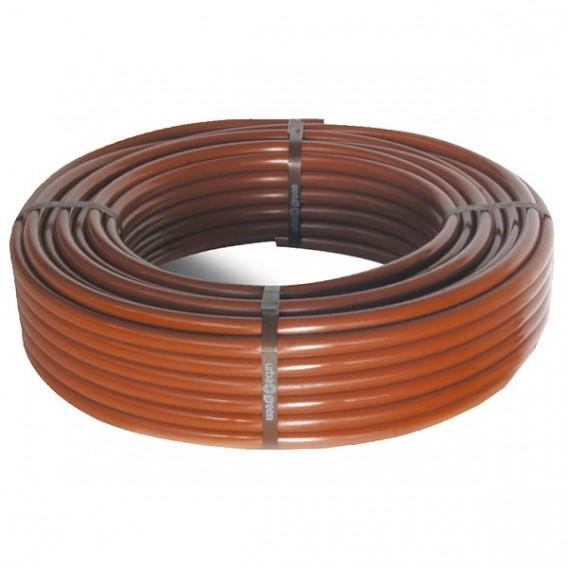 Tubería riego por goteo marrón (bobina 100 m)